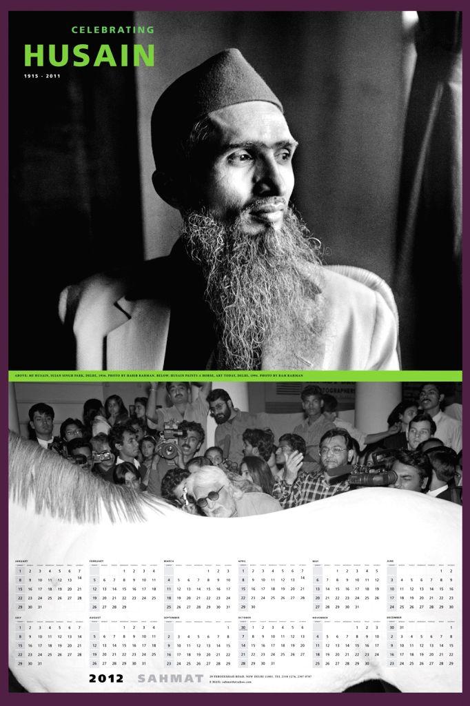 A calendar of M.F. Husain by  SAHMT