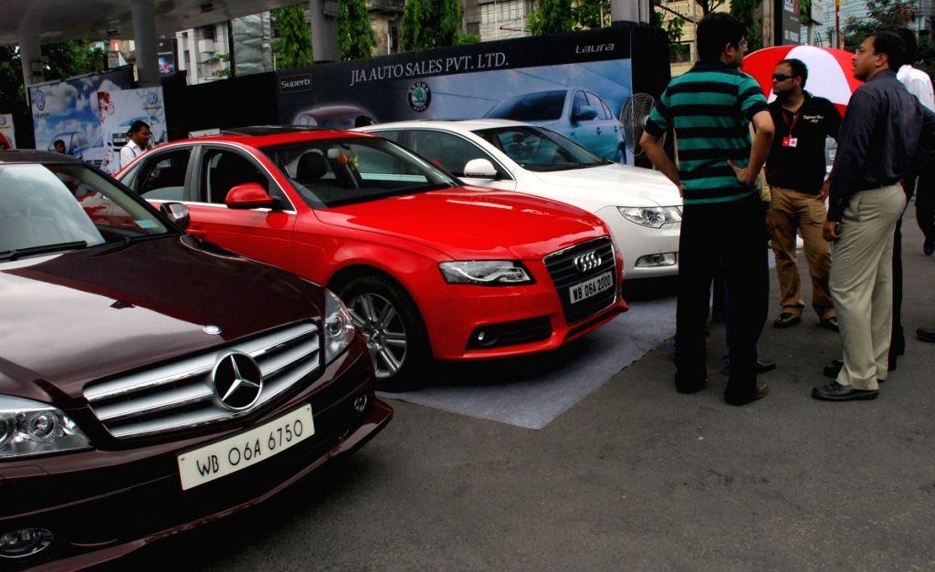 A Car Carnival in Kolkata on saturday 13 June 09. Marcedes, Audi,Volkswagen and Skoda models at the motor mela organised by Marks N Glix at its Ballygunge outlet.