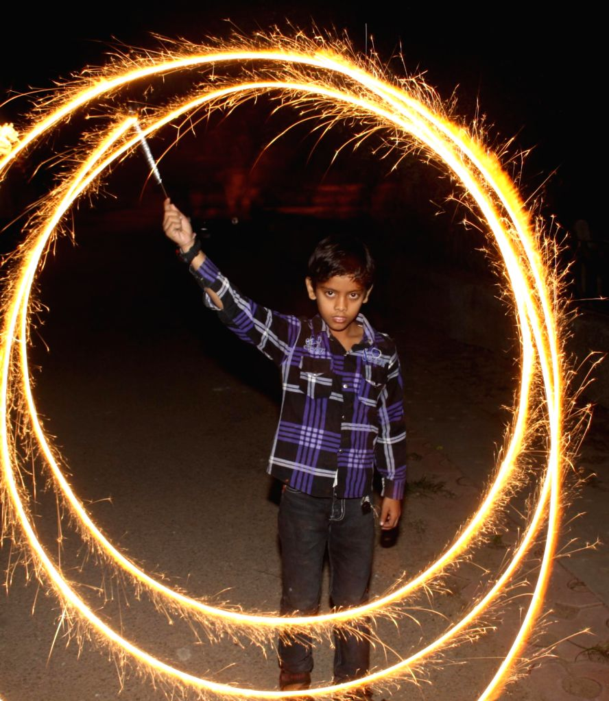 Children Play With Crackers Ahead Of Diwali