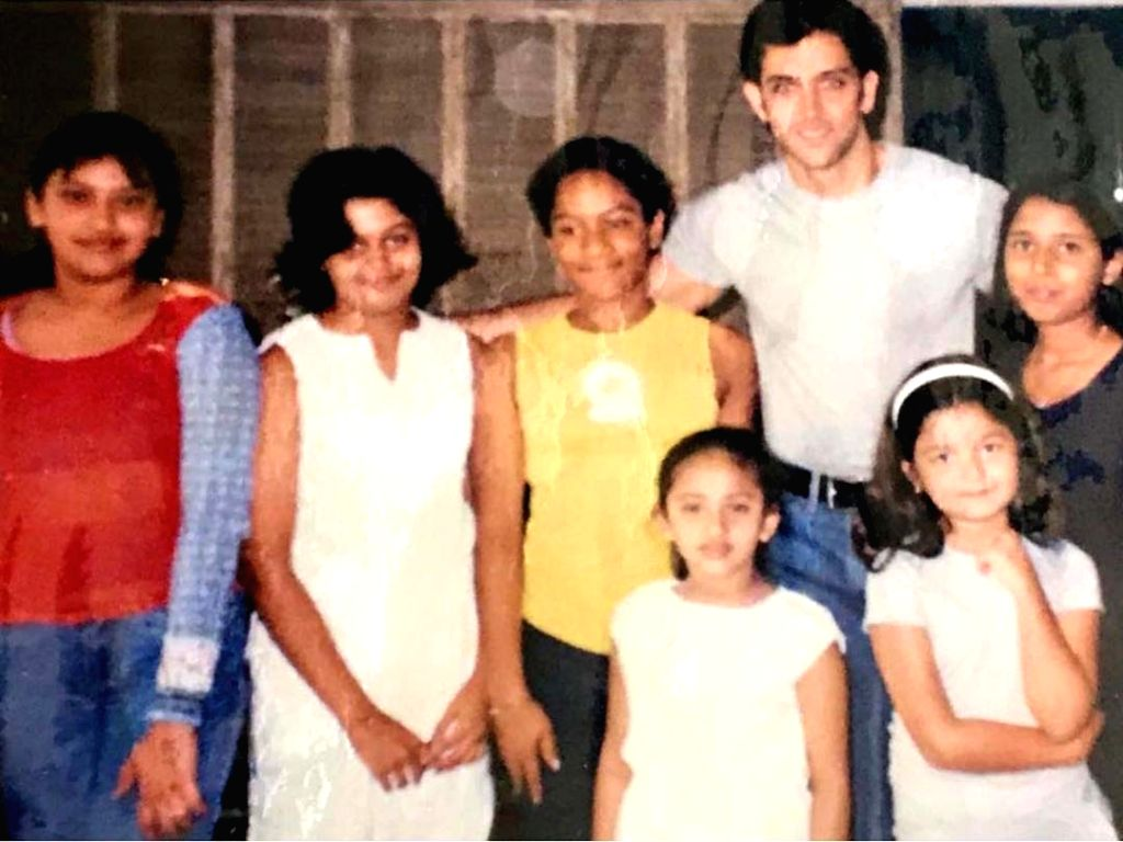A childhood photograph of actor Hrithik Roshan, Alia Bhatt and Masaba Gupta at a party together has surfaced on social media which has left their fans excited. - Hrithik Roshan and Masaba Gupta