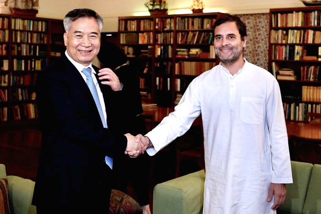A Chinese delegation calls on Congress leader Rahul Gandhi in New Delhi on June 6, 2019. - Rahul Gandhi