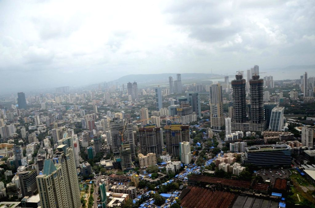 A cityscape of Mumbai.
