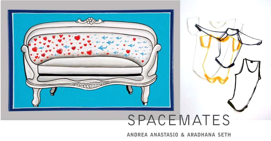 A collage from the Indo-Italian art project, Spacemates between Aradhana Seth and Andrea Anastasio in the capital - Aradhana Seth