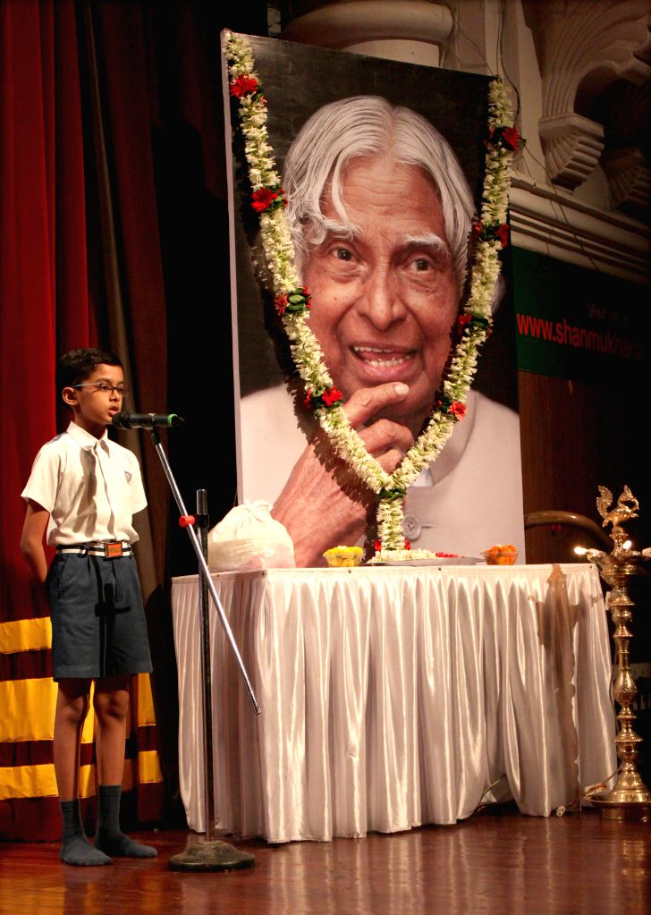 A condolence meeting for the late former president Dr APJ Abdul Kalam organise by the South Indian Education Societ at the Shanmukhananda Hall in Mumbai on Aug 1, 2015.