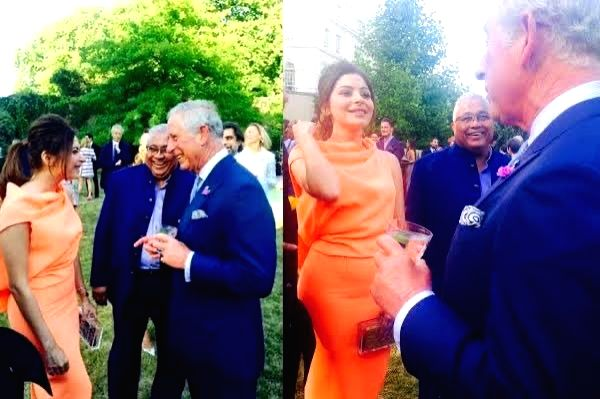 A day after the announcement of Britain's Prince Charles testing positive for coronavirus, netizens have dug up old photos of him with Bollywood singer Kanika Kapoor, who has tested positive in her third COVID-19 test. - Kanika Kapoor