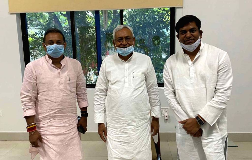 A day after Vikassheel Insaan Party (VIP) formally joined the National Democratic Alliance (NDA) ahead of the upcoming Bihar Assembly elections, VIP chief Mukesh Sahani met Bihar Chief ... - Nitish Kumar