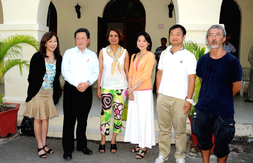 A delegation from University of Tokyo and Standford University during their visit for Community Week Program initiated by the Dhillon- Marty Foundation in Amritsar on Sept. 6, 2014.