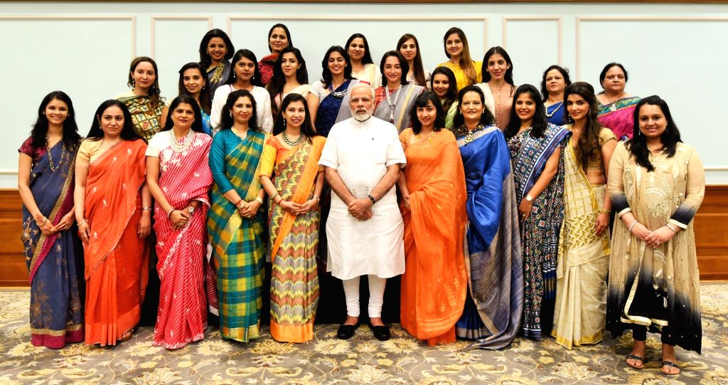 A delegation from Young FICCI Ladies Organisation calls on Prime Minister Narendra Modi in New Delhi on Aug 3, 2017. - Narendra Modi