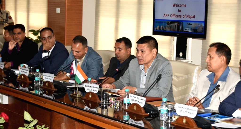 A delegation of Armed Police Force (APF) Officers of Nepal led by Prabin Shrestha, Dy. Inspector General, APF (Nepal) visits CISF headquarters, New Delhi on Oct 17, 2019.
