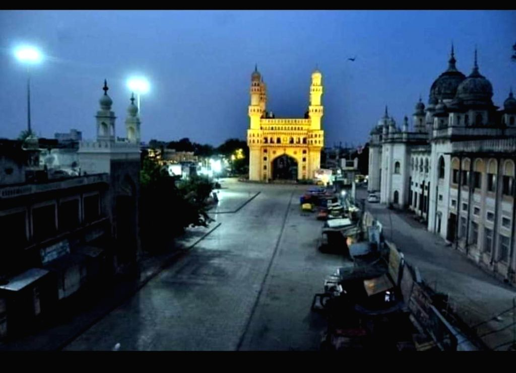A deserted look of Charminar.