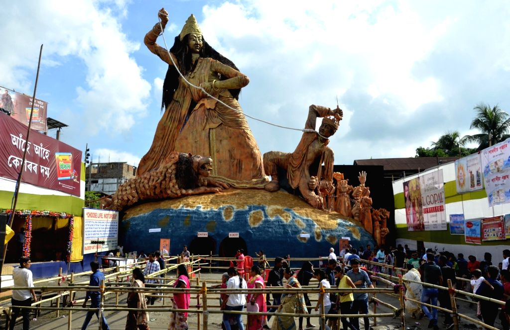 A Durga Puja Pandal in Guwahati on Oct 10, 2016.