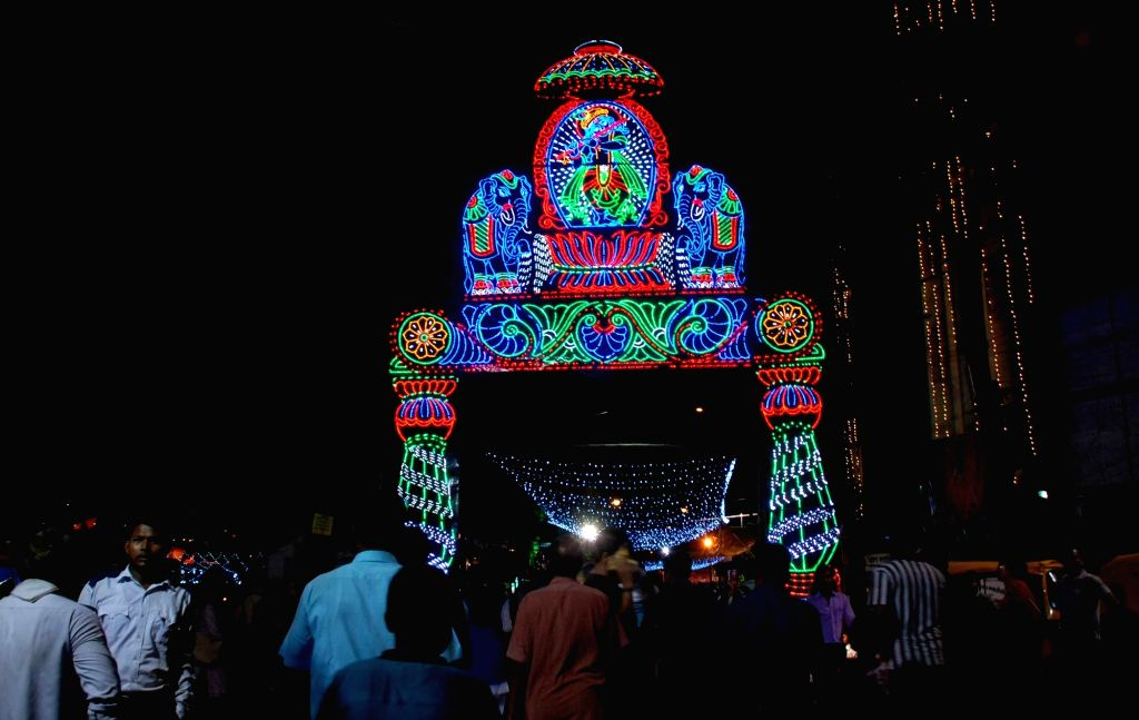 A Durga Puja Pandal in Kolkata on Oct 10, 2016.