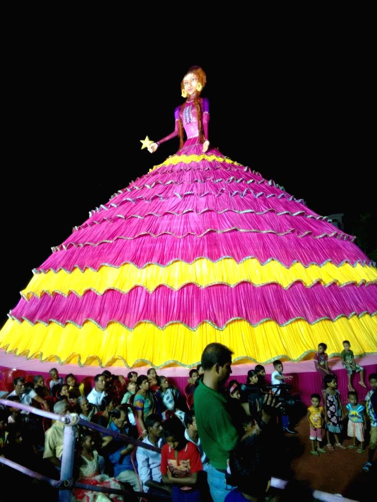 A Durga Puja Pandal made on the theme of Barbie doll in Agartala on Oct 7, 2016.