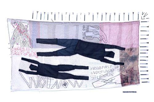 A fabric work by Renuka Rajiv . (Source: FICA/Vahdera Art Gallery)