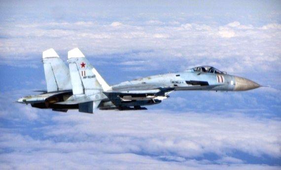 A file photo of a Russian Su-27 fighter