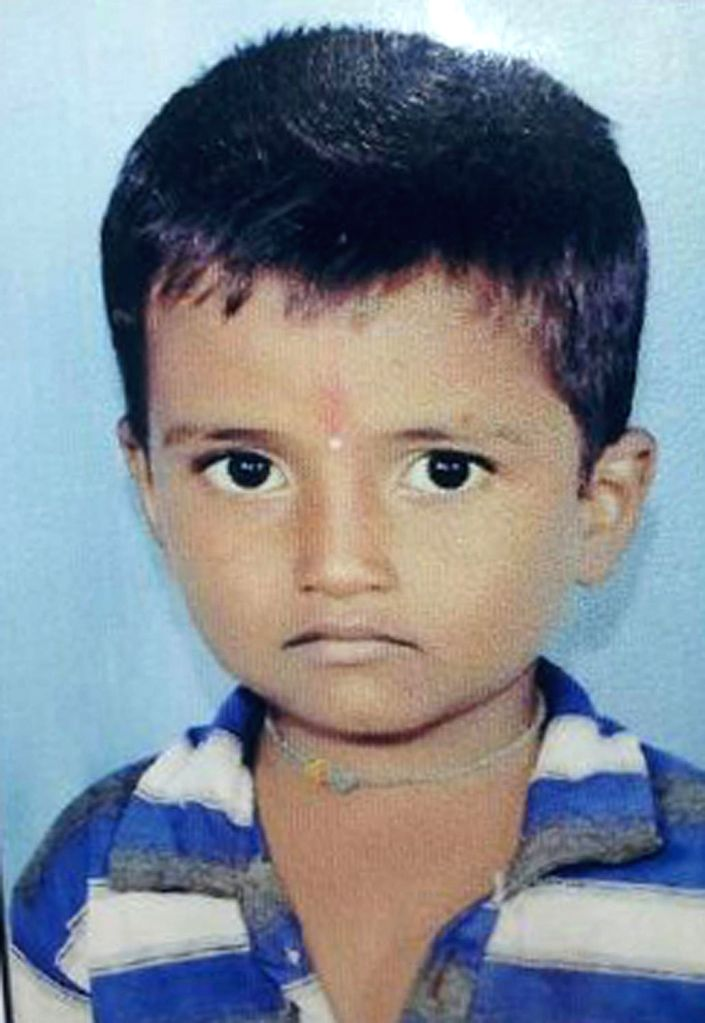 (A file photo) Tippanna Hanamappa Hatti, the six-year-old boy who fell into a borehole in Bagalkot district in Karnataka.