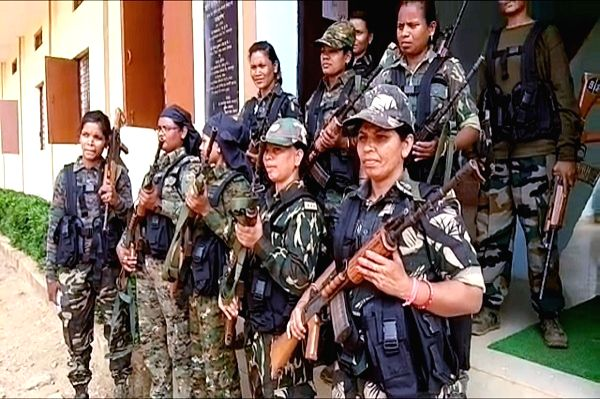 A first-of-its-kind All-Women Anti-Naxal Commando Unit comprising of thirty women DRG commandos that has been inducted by the Chhattisgarh police in Dantewada of Bastar region, on May 11, ...