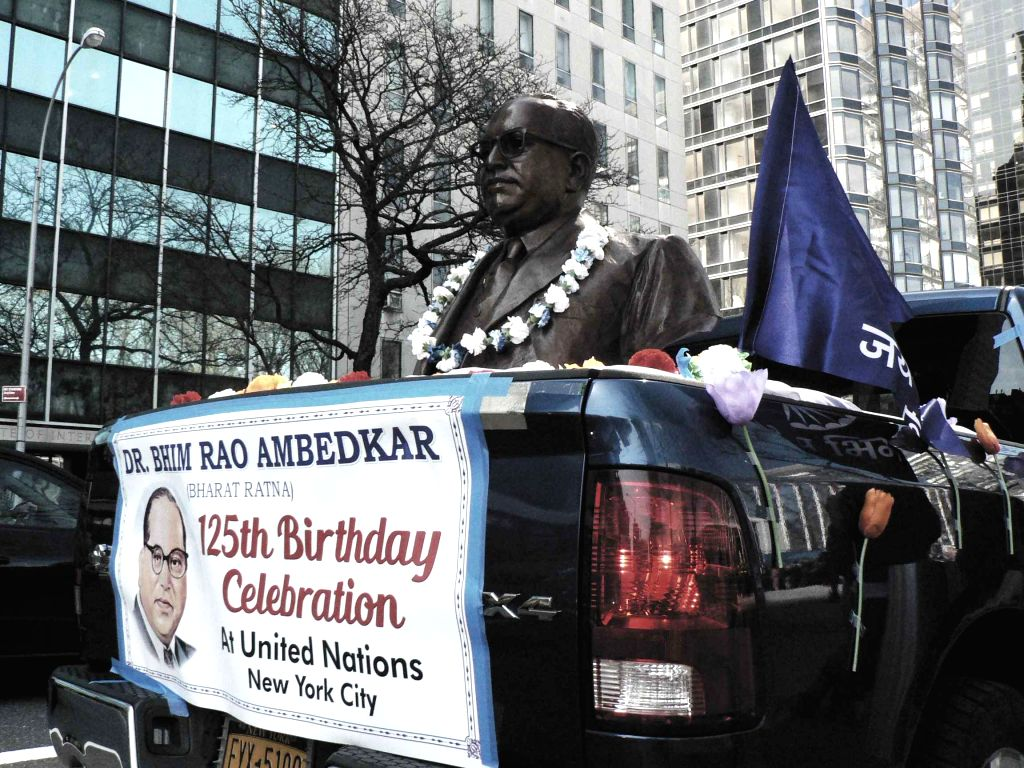 A float honouring B.R. Ambedkar was brought by the Begumpura Cultural Society of New York  to the United Nations headquarters in New York on Wednesday April 13, 2016 during the celebrations of his ...
