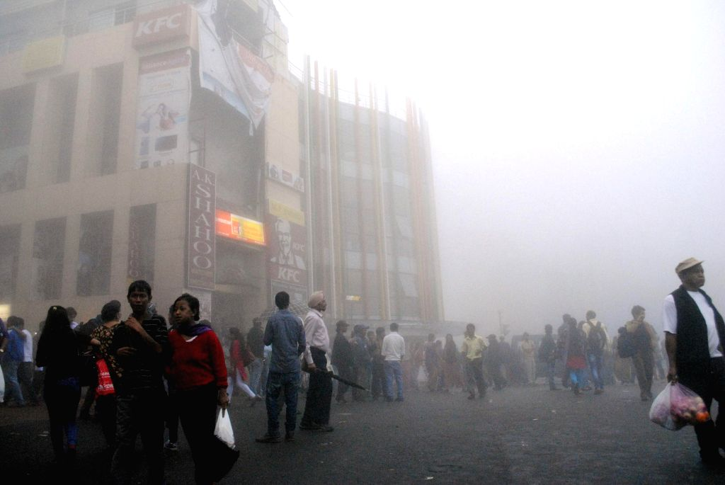 A fog cover over Police Bazzar of Shillong on Aug 21, 2014.