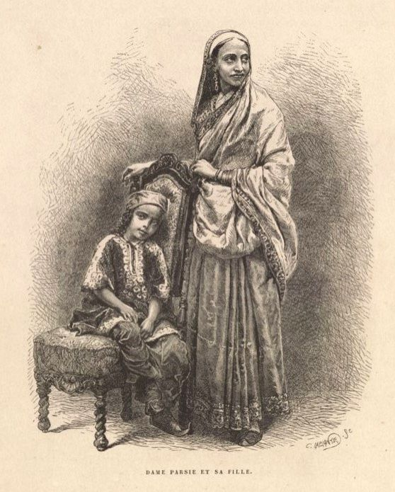 A French family in India.