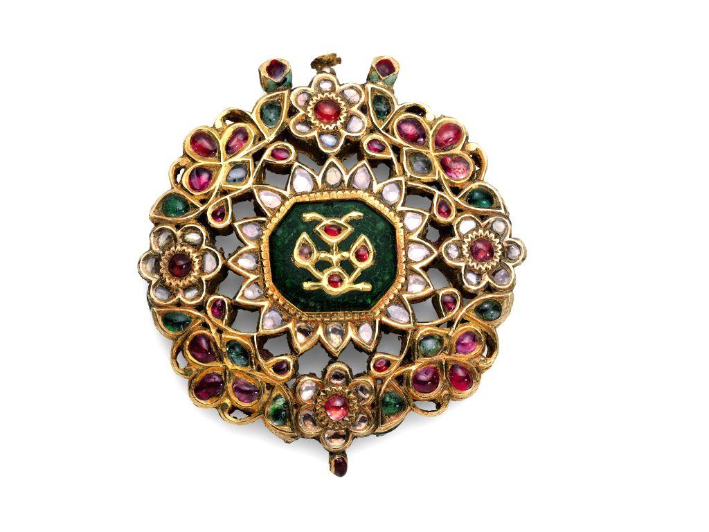 A Gem-Set and Enamelled Pendant, India, 19th century, est. £2,000-3,000.