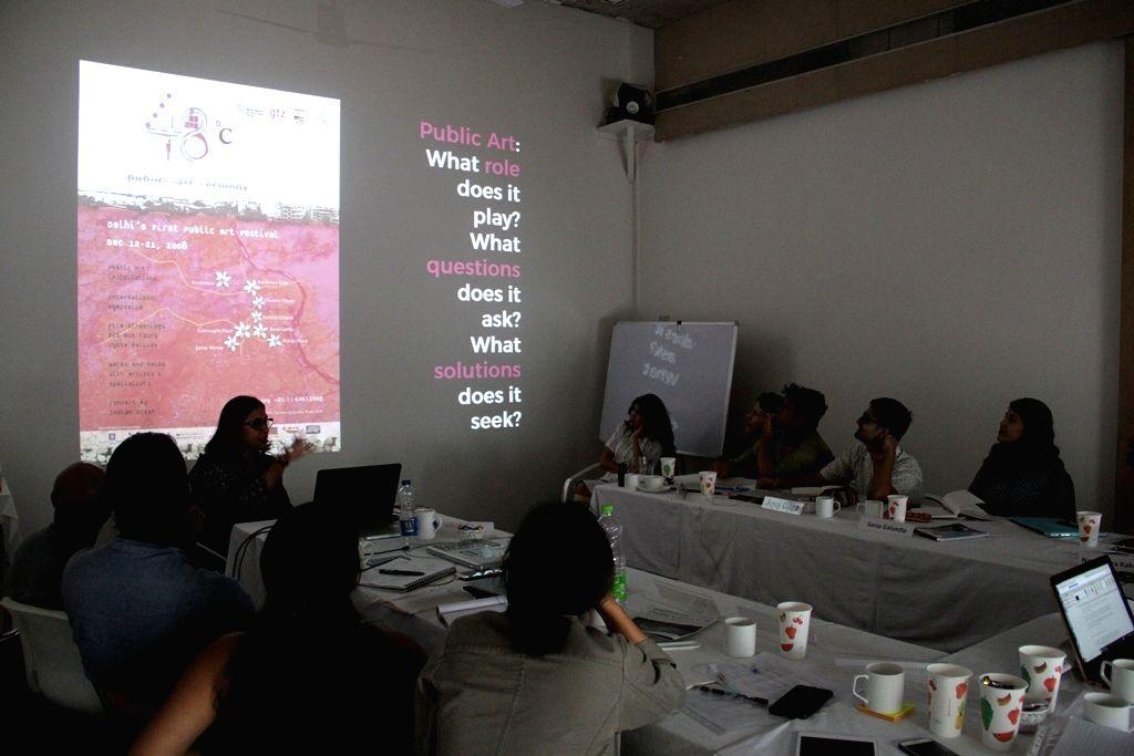A glimpse from the CISA curatorial fellowship program. (Photo Source: Khoj)
