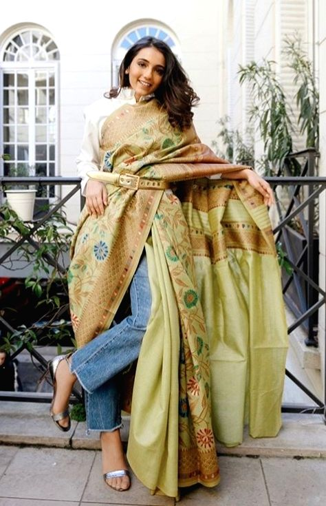 A great time to experiment with the sari.