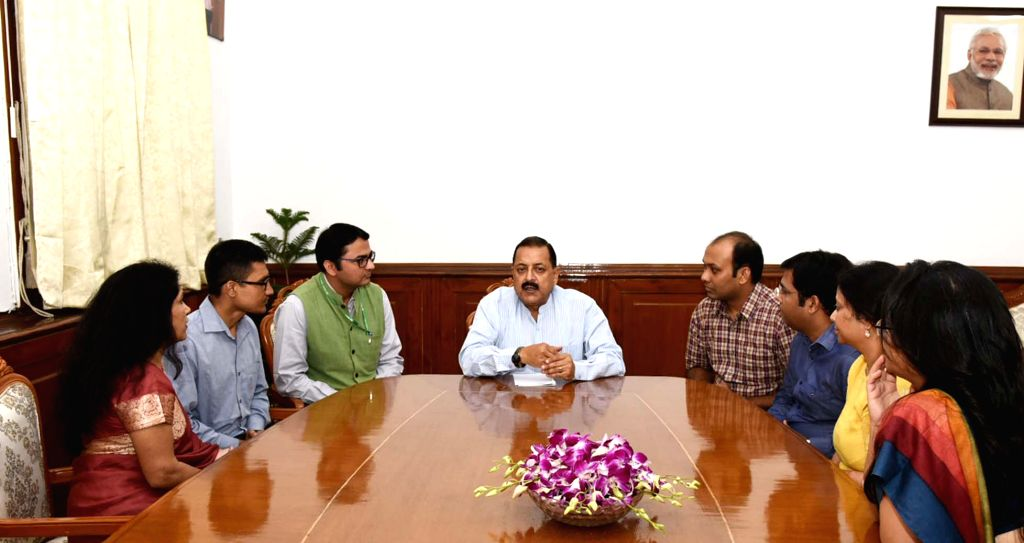 A group of Indian Revenue Service (IRS) Officers (Customs and Indirect Taxes) call on Union MoS Development of North Eastern Region (I/C), Prime Minister???s Office, Personnel, Public ... - Jitendra Singh