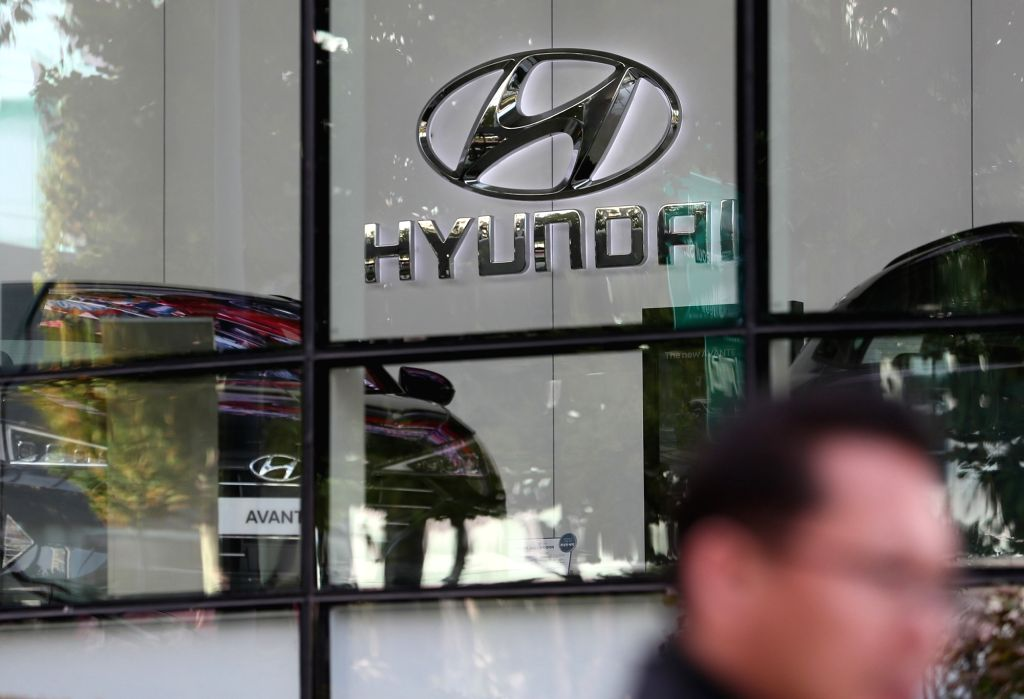 A Hyundai Motor showroom in Seoul is seen in this photo taken Oct. 25, 2018. The country's biggest auto manufacturer announced its third-quarter performance on the day showing a 67 percent ...