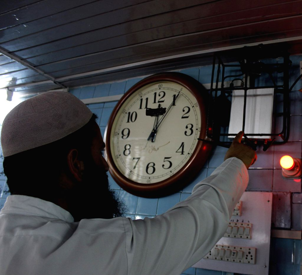 A jammer installed at a mosque in Srinagar to ensure that the mobile phones of devotees do not ring during the prayers on July 10, 2014.