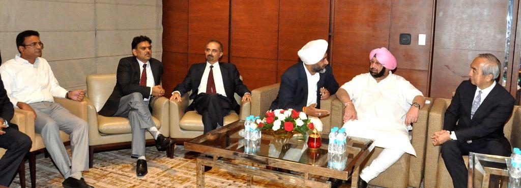 A Japanese delegation led by Ambassador of Japan to India  Hiramatsu-San calls on Punjab Chief Minister Captain Amarinder Singh in Chandigarh on May 9, 2017. - Captain Amarinder Singh
