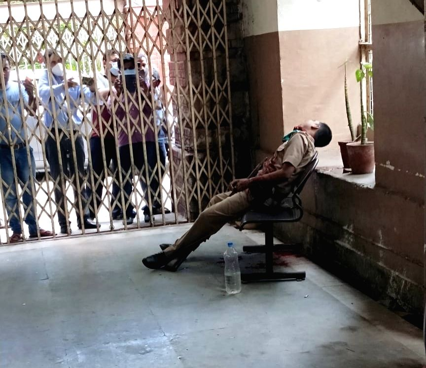 A Kolkata  Police constable who allegedly shot himself dead using his service rifle at the iconic Writers'' Building  in Kolkata on July 3, 2020. Constable Bishwajit Karak, 34, was posted ...
