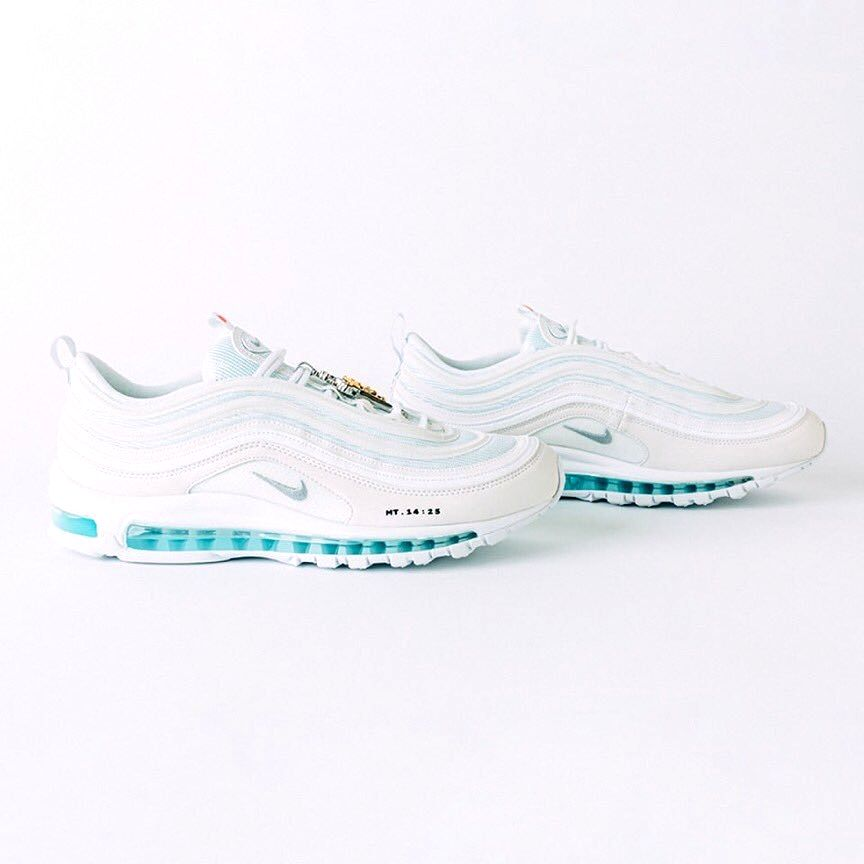 A limited-edition sneaker filled with holy water from the Jordan River in the soles and blessed by a priest sold out within minutes after its debut. The shoes cost $3,000 per pair. 'Jesus Shoes' are basically distinctive pair of white Nike Air Max 97