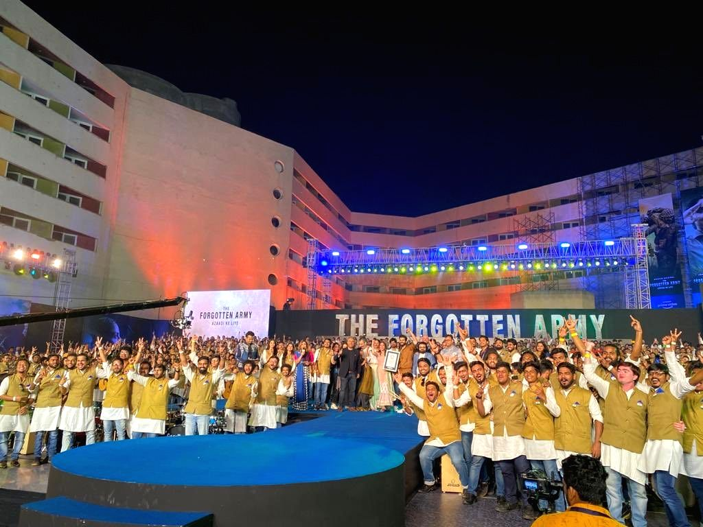 """A live musical extravaganza saw 1,000 singers and instrumentalist coming together to perform for the album of Kabir Khans web series """"The Forgotten Army: Azaadi Ke Liye"""" on Friday night. ..."""