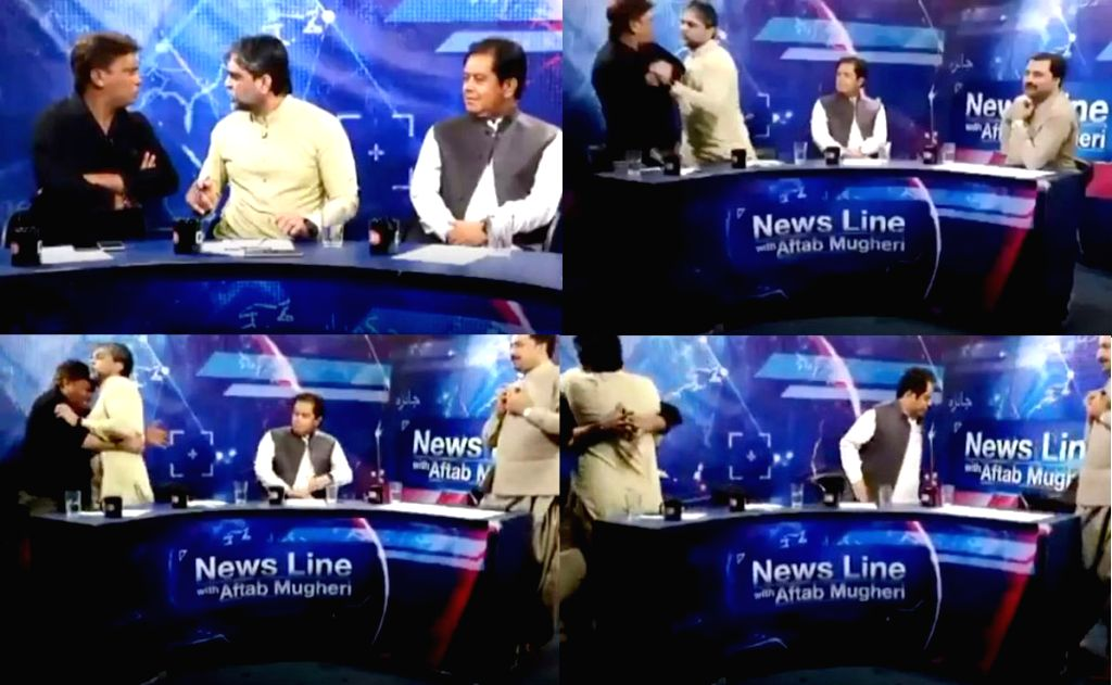 A live news debate on a Pakistani news channel turned ugly after an argument between a politician and a journalist turned physical, shocking viewers across the country.