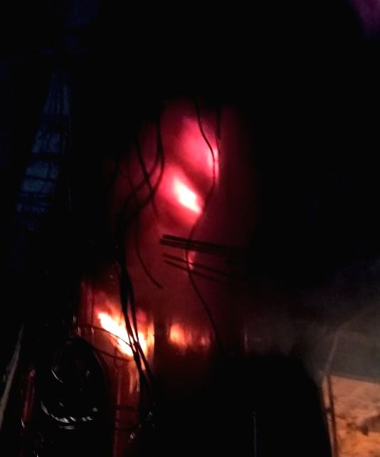 A major fire has occurred at cloth shop cum godown in Gandhi Nagar,New Delhi on November 12, 2020.