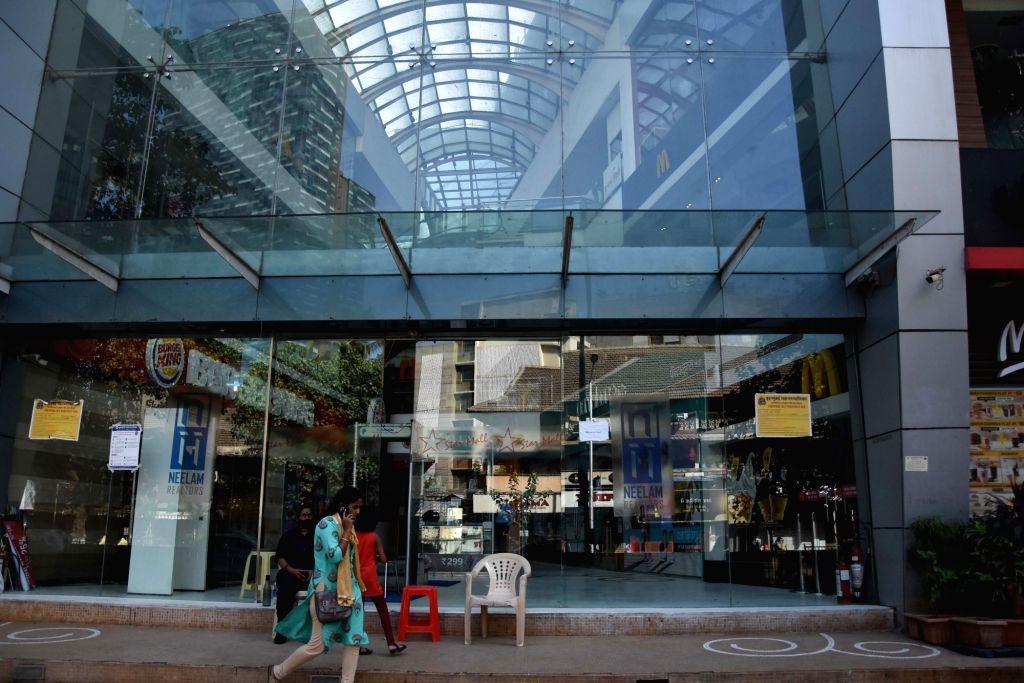 A mall bears a deserted look amid COVID-19 (coronavirus) pandemic, in Mumbai on March 20, 2020.