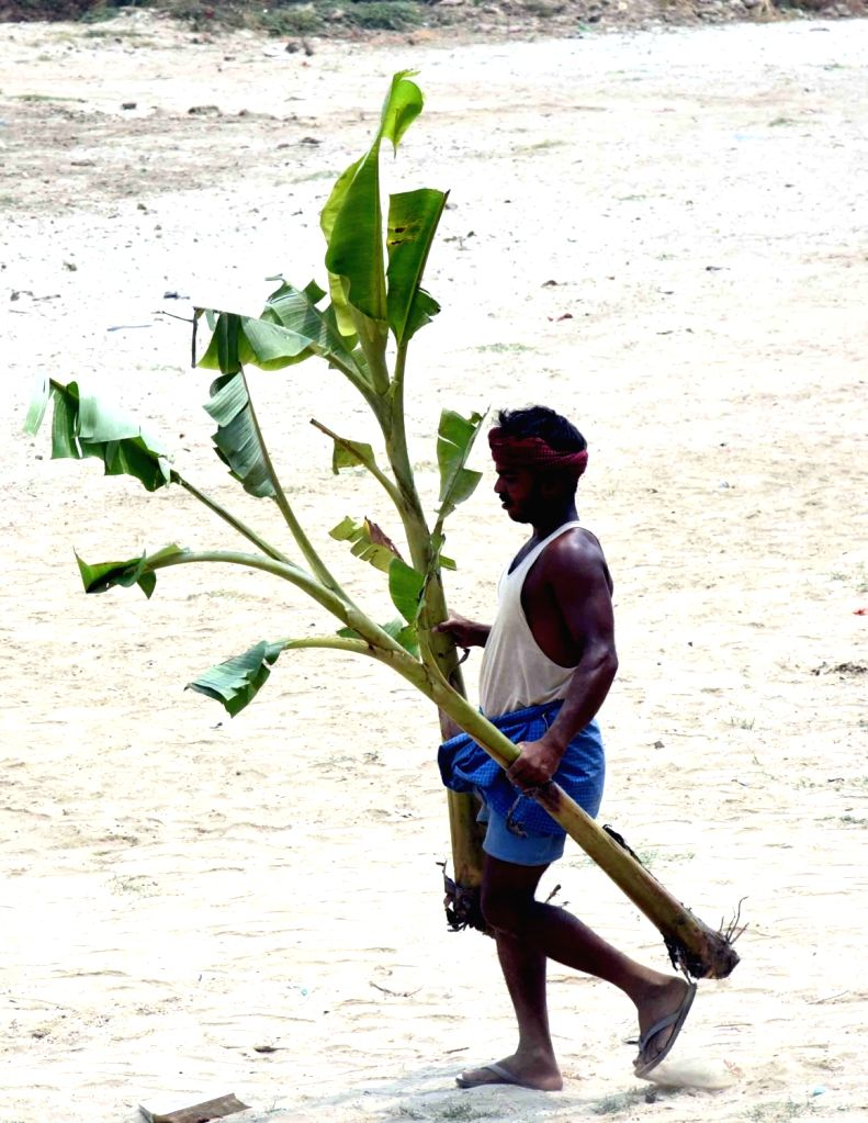 A man during a programme organised on World Environment Day, in Patna, on June 5, 2019.