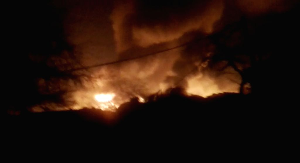 A massive fire breaks out in the Shaheed Bhagat Singh Camp at Paschim Puri of west Delhi gutting at least 250 shanties on Feb 13, 2019. The Delhi government has announced Rs 25,000 for ... - Bhagat Singh Camp