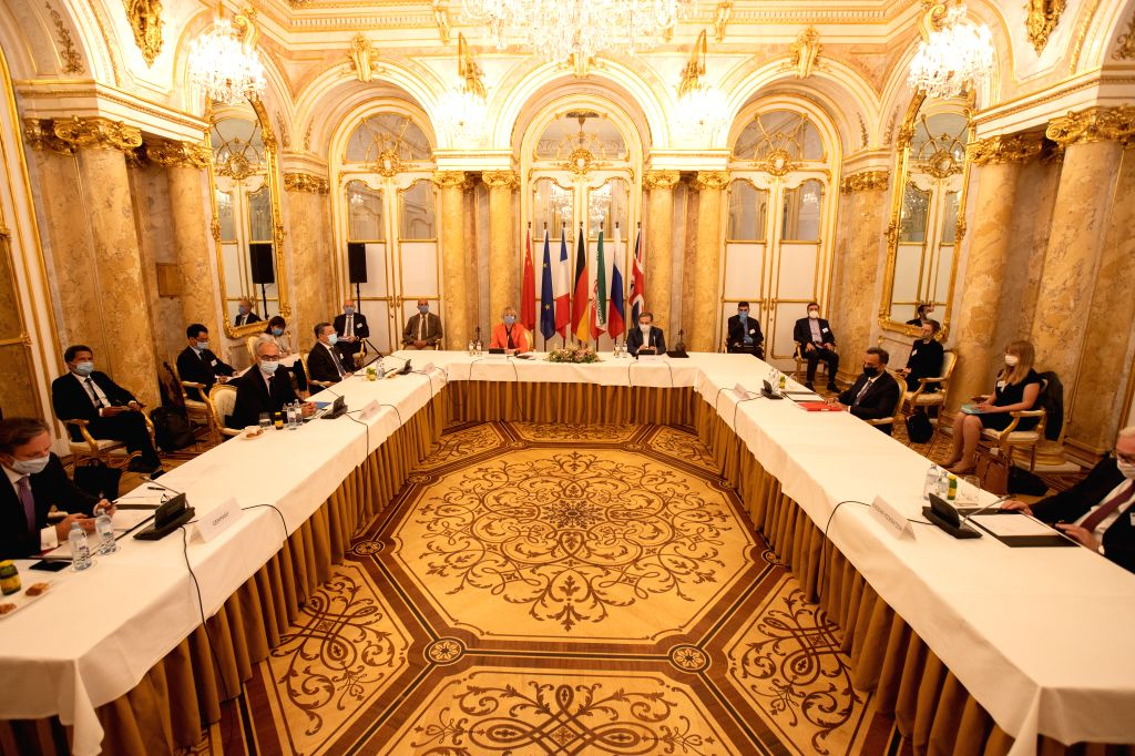 A meeting of the Joint Comprehensive Plan of Action (JCPOA) Joint Commission is held in Vienna, Austria, on Sept. 1, 2020. Relevant parties reaffirmed their ...