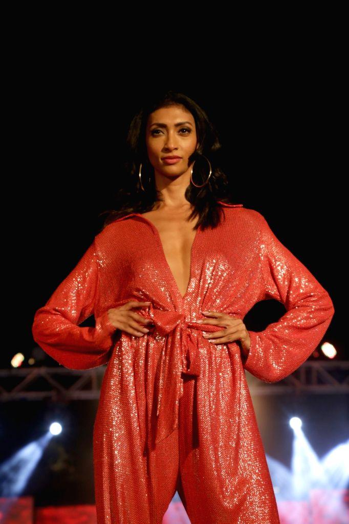 A model at Audi Peaklife Fashion Capsule in New Delhi, on April 5, 2019.