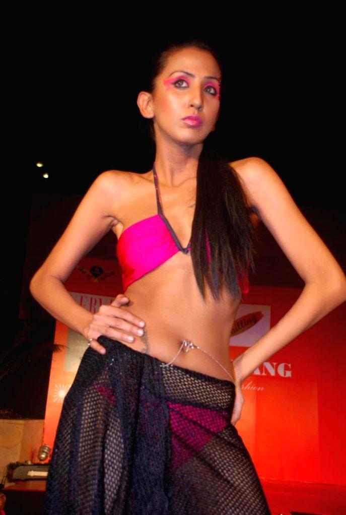 A model at Fosters Archana Kochhar Fashion Show in Mumbai.