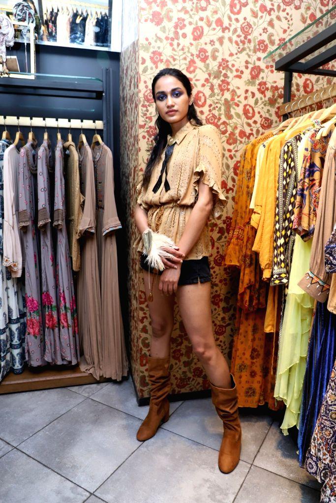 A model at the launch of fashion designer Ritu Kumar???s SS 19 collection, in Mumbai, on May 11, 2019. - Ritu Kumar