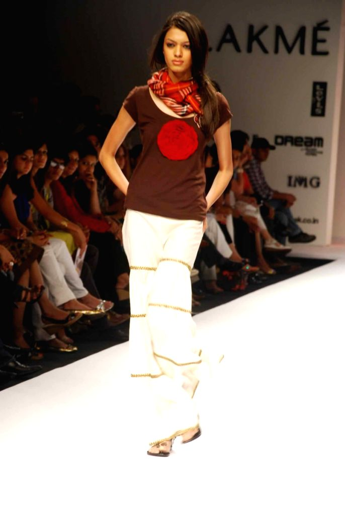 A Model at the ramp for Designer Asmita Marwa at the Lakme fashion week 2009.