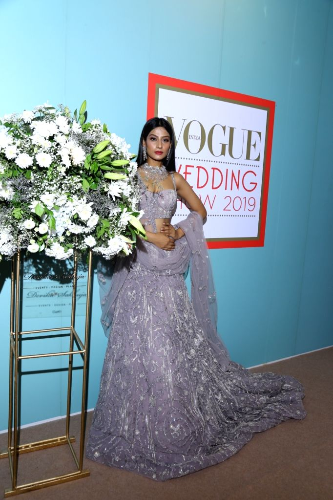 A Model at the Vogue Wedding Show 2019.