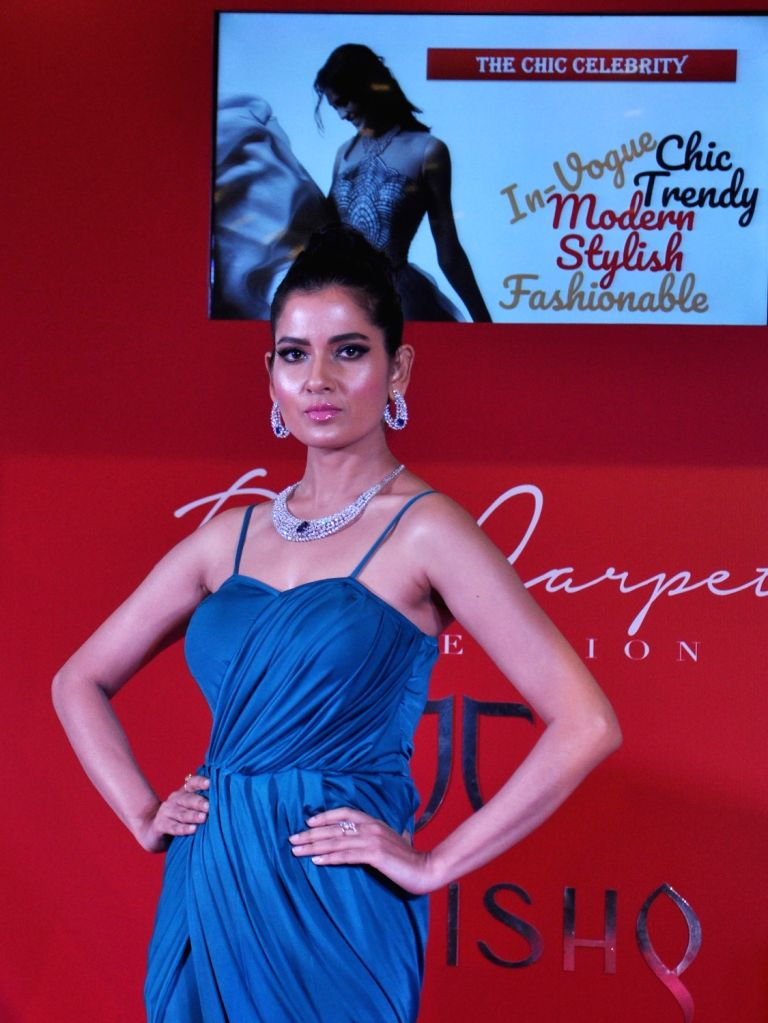 A model during a fashion show organised by a jewellery brand in Kolkata, on June 23, 2017.