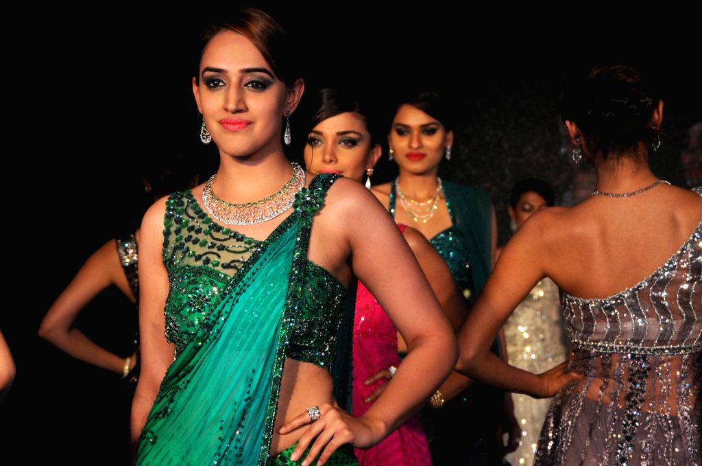 A model during the launch of `Life Design Diva Competition and Fashion Show` in Bangalore on Thursday.