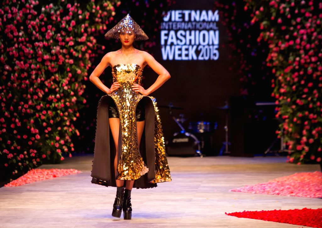 A model performs during the opening ceremony of the Vietnam International Fashion Week 2015 in Ho Chi Minh City, Vietnam, Oct. 14, 2015. The Vietnam ...