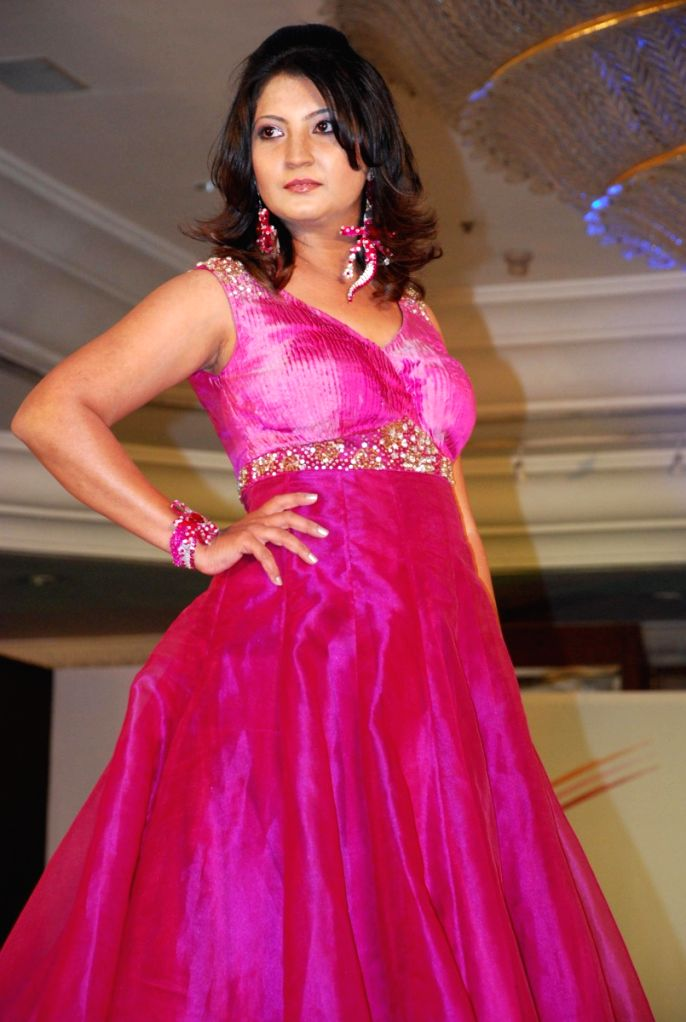 A model walking the ramp at IITC fashion show in Mumbai.