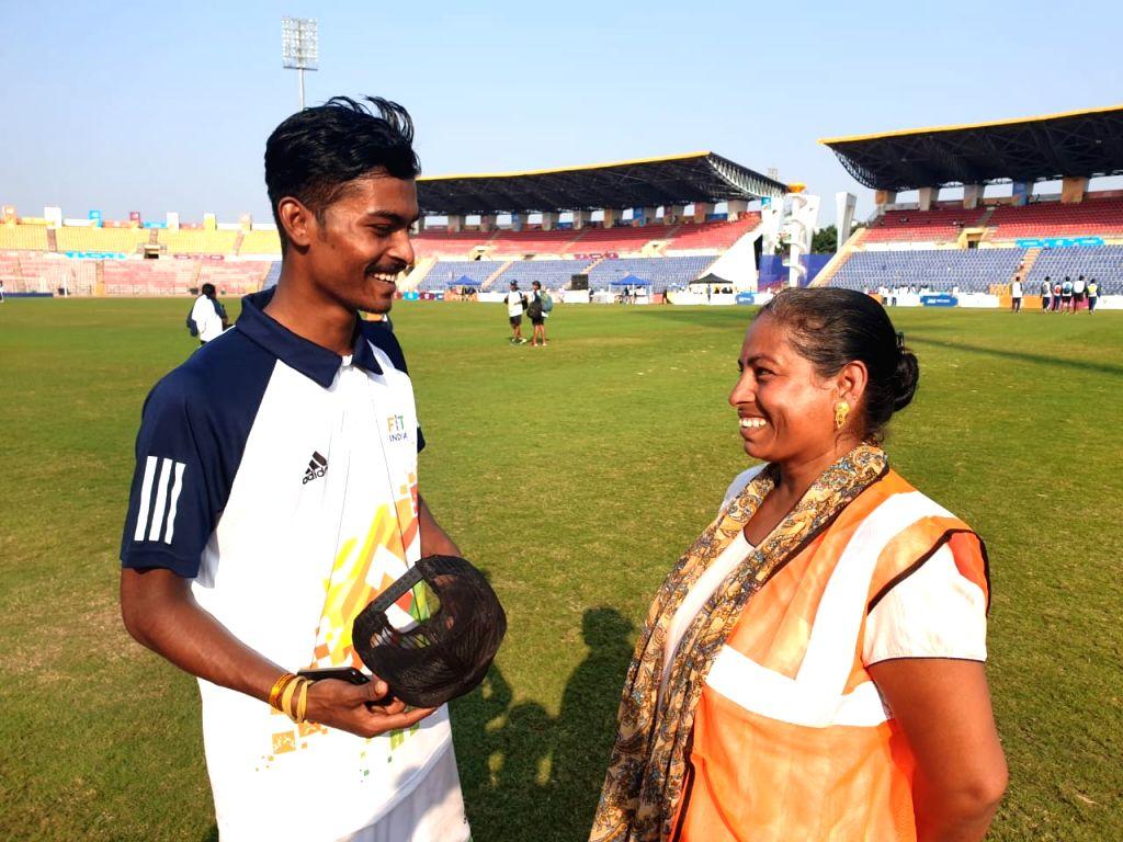 A mother of three children from Assam, Poornima Mondol has produced three athletes in three different sports for the state. All three of them -- Sujit Mondol (kho kho), Pradip Mondol (hockey) and Mallvika Mondol (football) --  are representing their